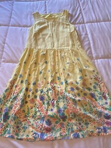 New Girl's Girls Size 16 XL X-Large So Yellow Floral Print All Season Dress