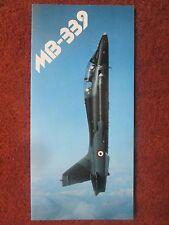 1984 DEPLIANT LEAFLET RECTO VERSO AVION AERMACCHI MB-339 TRAINER AIRCRAFT
