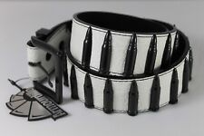 Further Reductions Sale | Black Bullets | White Croc | Vegan Leather Belt BNWT