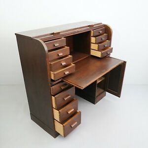 Small Office Desk With Roller Shutter 12 Drawers+1 Door Art Deco Aio
