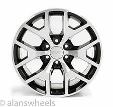 "4 NEW GMC Sierra Yukon Denali Black Machined Face 20"" Wheels Rims Lug Nuts 5656"