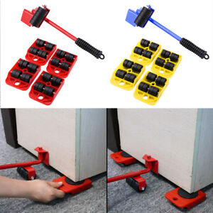 Wheels Moving Kit Heavy Furniture Shifter Lifter Easy Move Removal Slider Mover