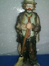"emmett kelly figurine ""sweeping away"" 10 inches height"