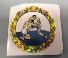 """2"""" diameter mylar trophy parts lot of 10 blue gold action wrestling"""