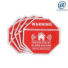 "Lot de 5 autocollants dissuasifs ""Protection sous alarme"" ( 7,5 cm X 7,5 cm ) !"