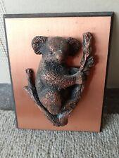 Koala Bear Copper 3D Wall Art Picture