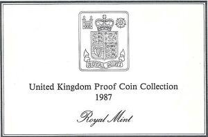 1987 Grande-Bretagne 7 Pièce de Monnaie 2 Page c. O. A.Document Kit