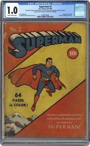 Superman #2 CGC 1.0 1939 0336154002