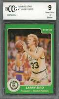 Larry Bird Card 1984-85 Star #1 Boston Celtics (50-50 Centered) BGS BCCG 9