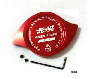 Red Mugen Power Radiator Cap Protection Cover Decoration Aluminum
