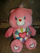 "Plush 2006 Hopeful Heart 13"" Care Bear Glow in the Dark With Hang Tag"