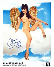 "Claire Sinclair Signed 16""x20"" Photo - Playboy PMOY 2011 - B04"