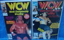 Marvel Comics World Championship Wrestling # 1 & 2 Lot WCW Luger Sting Vader '92