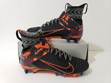 Nike Alpha Menace Elite 2 Black/Grey/Orange Crimson AV5357-002 Men's Size 10