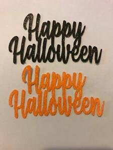 Happy Halloween Cup Cake Toppers Set of 6 Orange/Black - UK FREE P&P