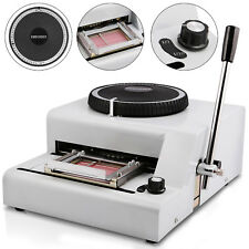 72 Letter Manual Embosser Machine PVC Card Credit ID VIP Stamping Embossing CA