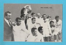 FOOTBALL - D.C. THOMSON - FAMOUS  TEAMS  CARD  -  REAL  MADRID  1960  -  1961
