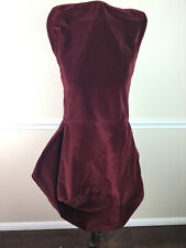 Pottery Barn Chair Cover Red Burgundy Velvet Cotton Armless Dining