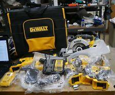 DEWALT DCKSS721D2 7 Tool 20 V Power Tool Combo Kit with Soft Rolling Case New