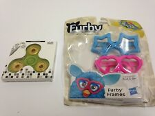 Hasbro Furby Frames Glasses, Blue Star & Pink Heart, No Stickers, w Hand Spinner