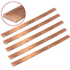 99% Cuivre T2 Cu Metal Plat Barre Plaque Bande Feuille 3x15x250mm Electrique