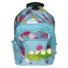 Embark Rolling Frog & Flowers Backpack Blue Green Froggy Pet Pals Luggage Travel
