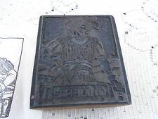 Sir Humphery Gilbert Printers Block Antique Letterpress Graphic Art