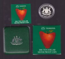 1991 Silver $10 Proof Coin for Tasmania part  State Series Collection