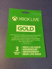 XBOX LIVE GOLD Membership Card [ 3 Month ] (XBOX ONE / XBOX 360) NEW