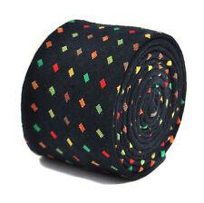 Frederick Thomas bleu et multicolore à pois 100% coton cravate ft2148