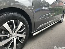To Fit 16+ Peugeot Expert Traveller LWB Side Bars Steps Skirts Tube MPV Van