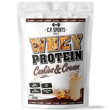 Whey Protein Shake Konzentrat Eiweiß Pulver Fitness Diät Pulver Cookies 500g