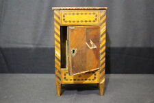 """Antique 1880's French """"Boite a Cigare"""" Cigar Storage Case in Exotic Veneers"""