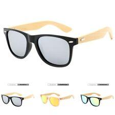 Bamboo Sunglasses Wooden Men Women Vintage Summer Mirror Polarized Lens Glasses