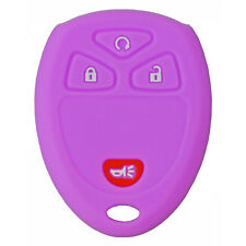 Protective Silicone Rubber Keyless Remote Fob Cover Case Jacket for GM Purple