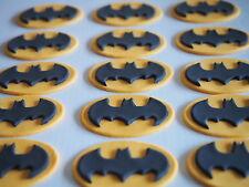 12 x Batman Superhero Symbol Logo CUPCAKE TOPPERS edible cake decorations KIDS
