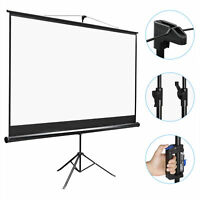 Projector Screen with Stand 100 inch Portable Projection Screen 16:9 4K Theater