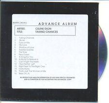 CELINE DION RARE Australian PROMO Acetate Advance CD Taking Chances