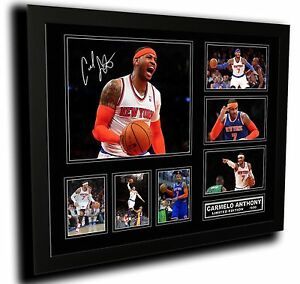 CARMELO ANTHONY NEW YORK KNICKS SIGNED LIMITED EDITION FRAMED MEMORABILIA