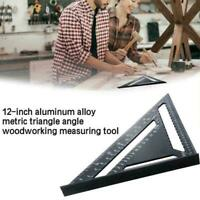 0-90°Degree Square Triangle Angle Ruler Woodworking Measuring B0W8 Tool Fra W5L7