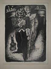 DESSIN Original AUGUSTE JEAN GAUDIN 1946 Portrait Clowns Cirque Raymond Templier