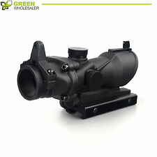 1X 32Tactical Red& Green Dot Sight Scope w/ 20mm Rail Mount for Rifle US Seller