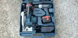 Bosch GKS 24V Cordless Circular Saw, GSB combi hammer drill, GLI 24V lamp kit