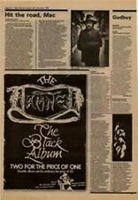 Damned The Black Album Advert NME Cutting 1980