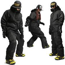 Top Quality SOUTHPLAY Waterproof Ski Snowboard Suits Coat Jacket Pants BLACK SET