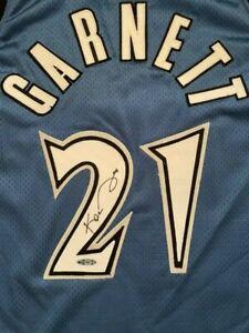 NEW Kevin Garnett Signed Authentic Minnesota Timberwolves Jersey Upper Deck UDA