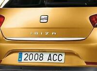 Seat Ibiza V 6J5, 6P1 - Cromo Maletero Embellecedor Strip PUERTA Bota PARA