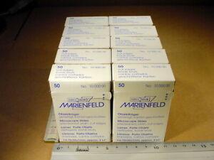 500 Stück Objektträger gereinigt Kanten geschnitten 75 x 25 x 1 mm für Mikroskop