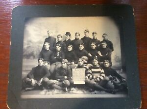 Football cabinet photo from 1900 normal school undefeated and gave up zero point