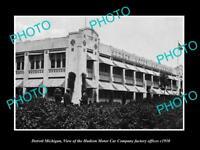 OLD LARGE HISTORIC PHOTO OF DETROIT MICHIGAN, THE HUDSON MOTOR CAR Co c1910 1